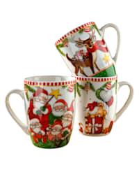 Set van 3 koffiemokken Christmas