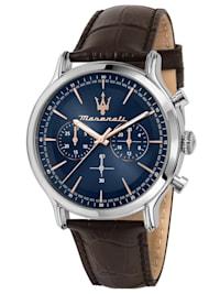 Herrenuhr Chronograph Epoca Braun/Blau