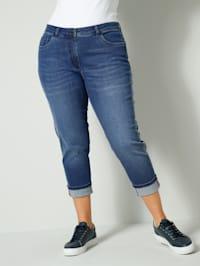 Jeans med oppbrett i kanten
