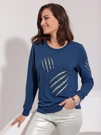 Sweatshirt met pailletten voor