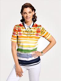 Poloshirt mit modischem Floraldruck