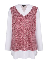 Shirt in modieuze 2-in-1-look