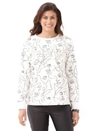 Sweatshirt met grafisch patroon