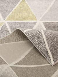 Designer Teppich Sevilla Modern Grau Grün Prisma