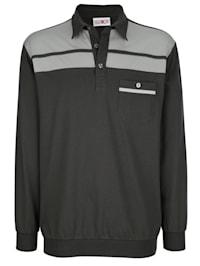 Bluzónové tričko s kontrastnými vsadkami