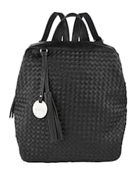 Backpack in a chic weave-effect finish