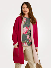Longline cardigan made from pure cotton