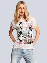 T-Shirt mit Disneyprint auf dem Vorderteil