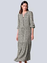 Kjole med Alba Moda-print