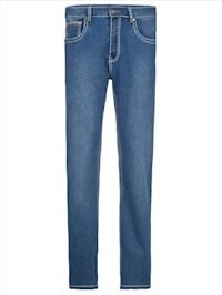 Jeans met modieuze contrastnaden