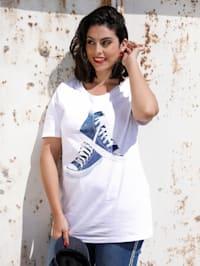 T-shirt à motif sneakers