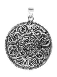 Anhänger - Hiddensee 26 mm rund - Silber 925/000 - ,