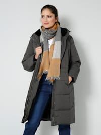 Mantel in Daunenoptik