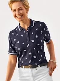 Polo shirt with a nautical print