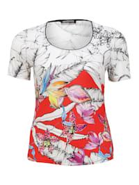 Shirt Floral Applikationen