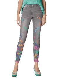 Jeans met print voor