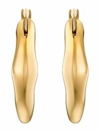 Creolen für Damen, Stainless Steel IP Gold