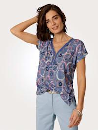 Shirt met geraffineerde halsvariant