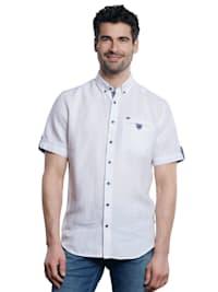 Kurzarm-Hemd aus Leinenstoff