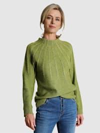Pullover mit Zopfmusterdetails
