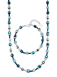 Halsband & armband med kristaller