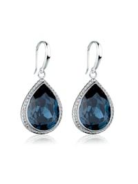 Ohrringe Tropfen Kristalle Elegant 925 Silber