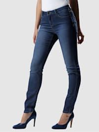 Jeans med vasket effekt