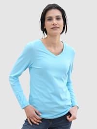 Shirt in melange Qualität