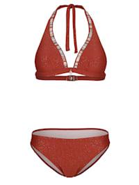 Bikini dos-nu d'aspect légèrement gaufré