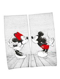 2 Stück Mickey & Minnie Badetücher