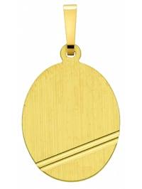 Damen Goldschmuck 333 Gold Gravurplatte Anhänger