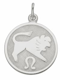 1001 Diamonds Damen & Herren Silberschmuck 925 Silber Sternzeichen Anhänger Löwe Ø 15,7 mm