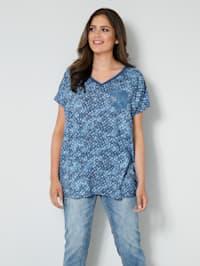 T-shirt avec fausse poche poitrine ornée de paillettes