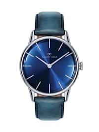 Uhr Serenity Deep Blue Silver Blue Leather 32mm