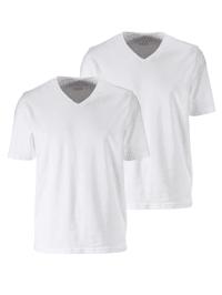 Lot de 2 T-shirts encolure en V