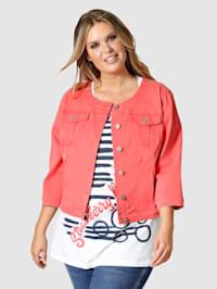 Krátka džínsová bunda v Used vzhľade