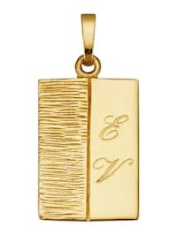 Pendentif gravé en or jaune 585