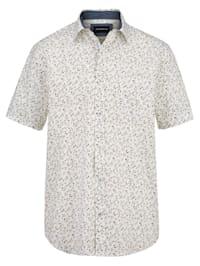 Hemd mit floralem Druckmuster