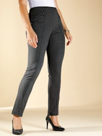 Jersey broek met minimalprint