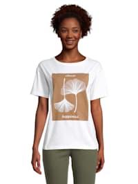 Rundhals-Shirt mit Print