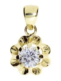Anhänger - Pia - Gold 333/000 - Zirkonia