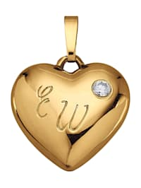 Pendentif Cœur avec diamant