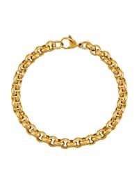 Armband, ärtlänk guldfärgad