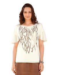Shirt mit Ärmeln aus Chiffon