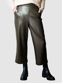 Tekonahkaiset culottes-housut