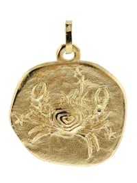 Sternzeichen-Anhänger Krebs 333 Gold 20 mm