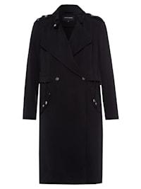 leichter Mantel, schwarz