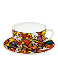 Goebel Tee-/ Cappuccinotasse Romero Britto - Hearts