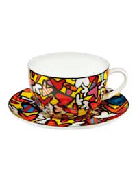 Tee-/ Cappuccinotasse Romero Britto - Hearts