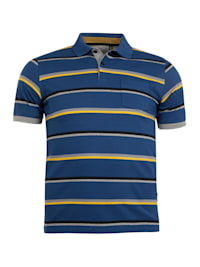 Strukturiertes Poloshirt
